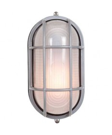 Access 20290-SAT/FST Nauticus Collection Bulkhead Outdoor Ceiling & Wall Sconce Satin Flush Mount Ribbed Frosted Glass