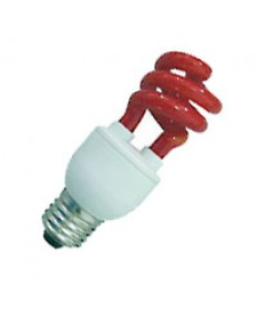 Halco 109220 CFL11/RED 11W T3 SPIRAL RED MED PROLUME