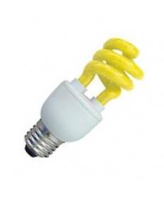 Halco 109222 CFL11/YEL 11W T3 SPIRAL YELLOW MED PROLU