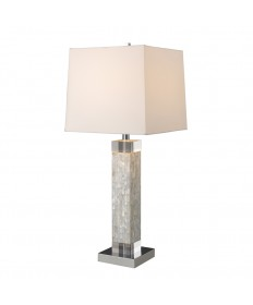 Dimond Lighting D1412 Luzerne Table Lamp in Mother of Pearl with Milano Off-white Shade