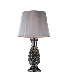 Dimond Lighting D1447 Roseto Table Lamp in Alisa Silver with Silver String Shade