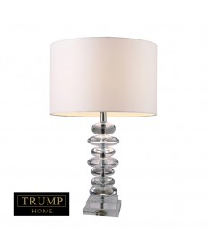 Dimond Lighting D1512 Trump Home Madison Table Lamp in Clear Crystal with Pure White Shantung Shade