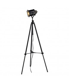 Dimond Lighting D1735 Ethan Adjustable Tripod Floor Lamp in Restoration Black