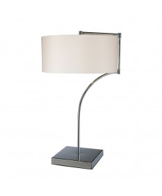 Dimond Lighting D1833 Lancaster Table Lamp in Chrome with Milano Pure White Shade