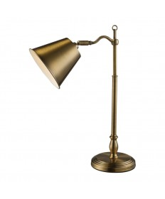 Dimond Lighting D1837 Hamilton Desk Lamp in Antique Brass with Antique Brass Shade
