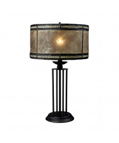 Dimond Lighting D1849 Mica Filagree Mica Filigree Table Lamp in Antique Black with Mica and Filigree Detailed Shade