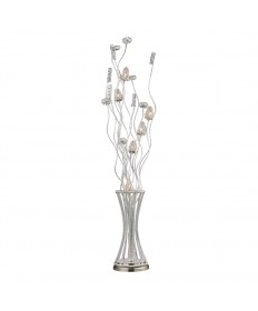 Dimond Lighting D2130 Cyprus Grove Floor Lamp in Satin Nickel