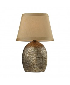 Dimond Lighting D2222 Gilead Table Lamp in a Modern Sleek Oval Shape with Alligator Texture