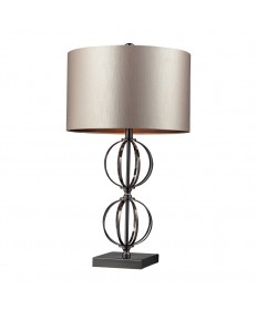 Dimond Lighting D2224 Danforth Table Lamp in a Coffee Plated Finish with Double Cut Sphere