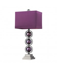 Dimond Lighting D2232 Alva Contemporary Table Lamp in a Black Nickel Finish with Triple Purple Sphere