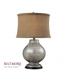 Dimond Lighting D2239 Antler Hill Mercury Glass Table Lamp with Taupe Burlap Shade and Gold Liner