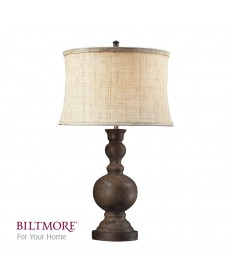 Dimond Lighting D2240 Arden Dark Oak Table Lamp with a Natural Hand Woven Linen Shade and Cream Liner