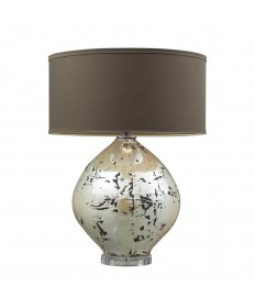 Dimond Lighting D2262 Limerick Ceramic Table Lamp in a Turrit Gloss Beige Finish with a Brown Linen Shade and Cream Liner