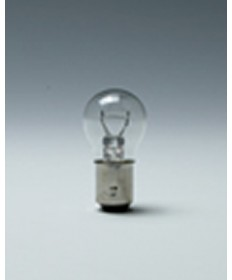 Satco E198 Satco 28.8 Watt (2.25 Amp) 12.8 Volt S8 DC Bayonet Base Clear Miniature Light Bulb