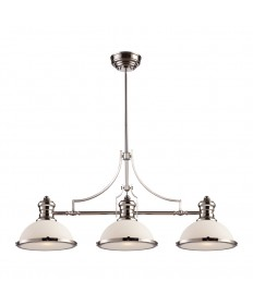 ELK Lighting 66215-3 ELK Chadwick Collection 3-Light Polished Nickel