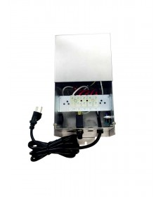Hatch Transformers GLS-75 - 75 Watt- Single Tap 12V Output Circuits - Stainless Steel - Outdoor Landscape Transformer