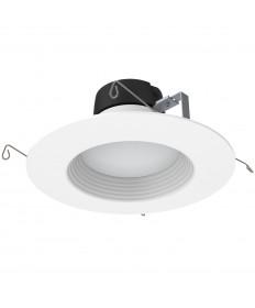 "Halco 99820 DL6FR12/930/RT2/LED 5'' - 6"" LED Retrofit Downlight 12W 3000K Dimmable E26 Replaceable-White Trim-White Baffle"