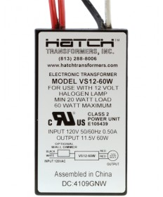 Hatch Transformers VS1260WNW Hatch VS12-60WNW 60-Watt 120-Volt to 12-Volt