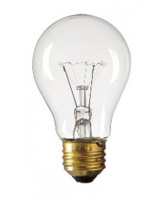 Satco S2992 Satco 60A19TS/8M/SS 60 Watt A-19 120 Volt E26 Medium Base Clear Extra Long Life 8000 Hour Incandescent Light Bulb