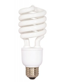 "Satco S7414 Satco EFMSP26/50/230V 26 Watt 230 Volt 5.94"" Mini Spiral E26/Medium Base 5000K Compact Fluorescent Light Bulb (CFL)"