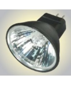 Satco S4173 Satco 20MR11/FTD/B/C 20 Watt 12 Volt MR11 GZ4 Base Dimmable Black Coated Reflector Narrow Flood 30 Degree Halogen MR Lamp