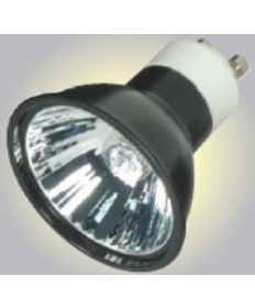 Satco S4183 Satco 35MR16/FMW/B/GU10 35 Watt 120 Volt MR16 GU10 Base Dimmable Black Coated Reflector Flood 38 Degree Halogen MR Lamp