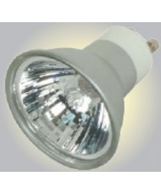 Satco S4181 Satco 35MR16/FMW/S/GU10 35 Watt 120 Volt MR16 GU10 Base Dimmable Silver Coated Reflector Flood 38 Degree Halogen MR Lamp