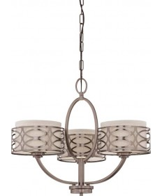 Nuvo Lighting 60/4724 Nuvo Harlow Collection 3-Light Chandelier