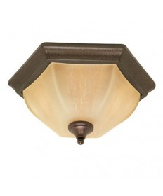 Nuvo Lighting 60/056 Normandy 2 Light 16 inch Flush Mount with Champagne Linen Washed Glass