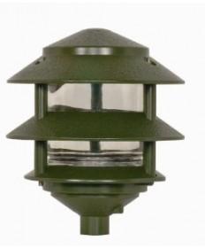 Nuvo Lighting 77/323 1 Light 8 inch Pathway Light Two Louver, Small Hood