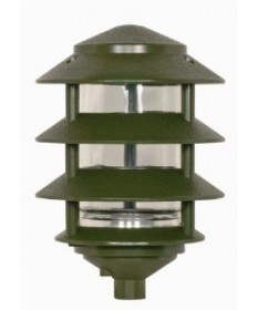Nuvo Lighting 77/324 1 Light 9 inch Pathway Light Three Louver, Small Hood