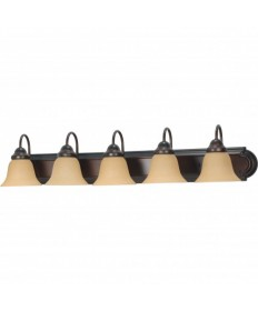 Nuvo Lighting 60/1267 Ballerina 5 Light 36 inch Vanity with Champagne Linen Washed Glass
