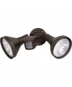 Nuvo Lighting 76/531 Nuvo 76-531 2 Light Bronze14 Inch Flood Light Exterior PAR38 Adjustable Swivel and Motion Sensor