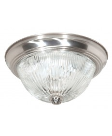 Nuvo Lighting 76/609 76-609 Nuvo 2-Light 11'' inch Flush Mount Clear Ribbed Glass