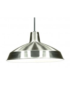 Nuvo 76/661 | 16'' inch Warehouse Shade Pendant Brush Nickel