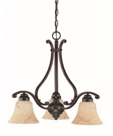 Nuvo Lighting 60/1401 Anastasia 3 Light 23 inch Chandelier with Honey Marble Glass