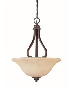 Nuvo Lighting 60/1409 Anastasia Collection 3 Light Pendant with Honey Marble Glass