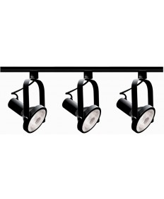 Nuvo Lighting TK317 Nuvo 3-Light Black PAR30 Track Lighting Kit