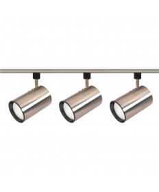 Nuvo Lighting TK341 3 Light R30 Straight Cylinder Track Lighting Kit Brushed Nickel