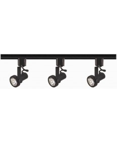 Nuvo TK352 Nuvo 3-Lights MR16 Gimbal Ring Track Lighting Kit Black Line Voltage