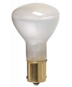 Satco S1383 Satco 20R11.5/1383 20 Watt 13 Volt R-11 1/2 Single Contact Bayonet Base Frost High Intensity Miniature #1383 Light Bulb