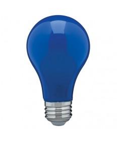 Satco S14985 8 Watt A19 LED Ceramic Blue Medium 120 volts