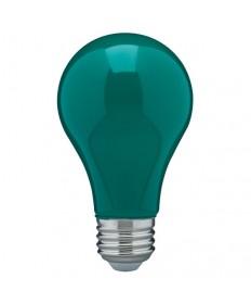 Satco S14986 8 Watt A19 LED Ceramic Green Medium 120 volts