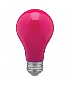 Satco S14989 8 Watt A19 LED Ceramic Pink Medium 120 volts