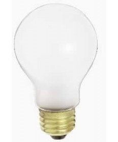 Satco S1713 Satco 75A19/F 75 Watt 120 Volt A19 Medium Base Frost Incandescent Light Bulb