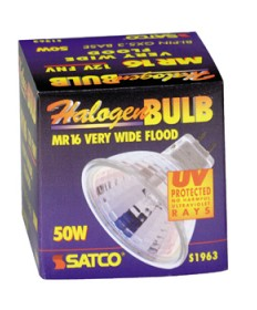 Satco S1963 Satco 50MR16/WFL FNV 50 Watt 12 Volt MR16 GX5.3 Base