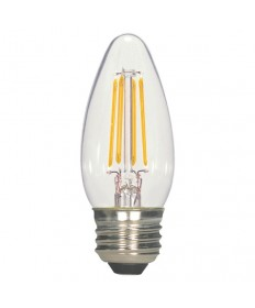 Satco S21707 5.5 Watt B11 LED Bulb Clear Medium Base 2700K 120V