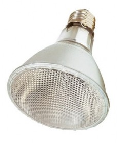 Satco S2217 Satco 75PAR30/HAL/WFL 75 Watt 120 Volt PAR30 Medium Base Long Neck Wide Flood Halogen Light Bulb