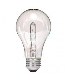 Satco S2402 43 Watt A19 Halogen Light Bulbs 120V Medium Base Clear (2-Pack)