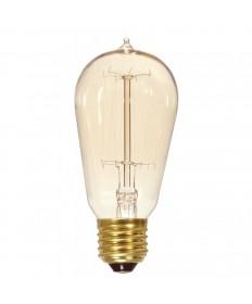 Satco S2423 60 Watt ST19 Vintage Light Bulb Cage Style Nostalgic Antique Bulb